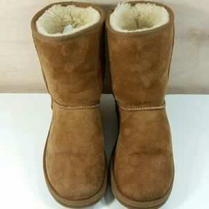 UGG Tan Shearling Boots S/N 5825 Womens Size 6